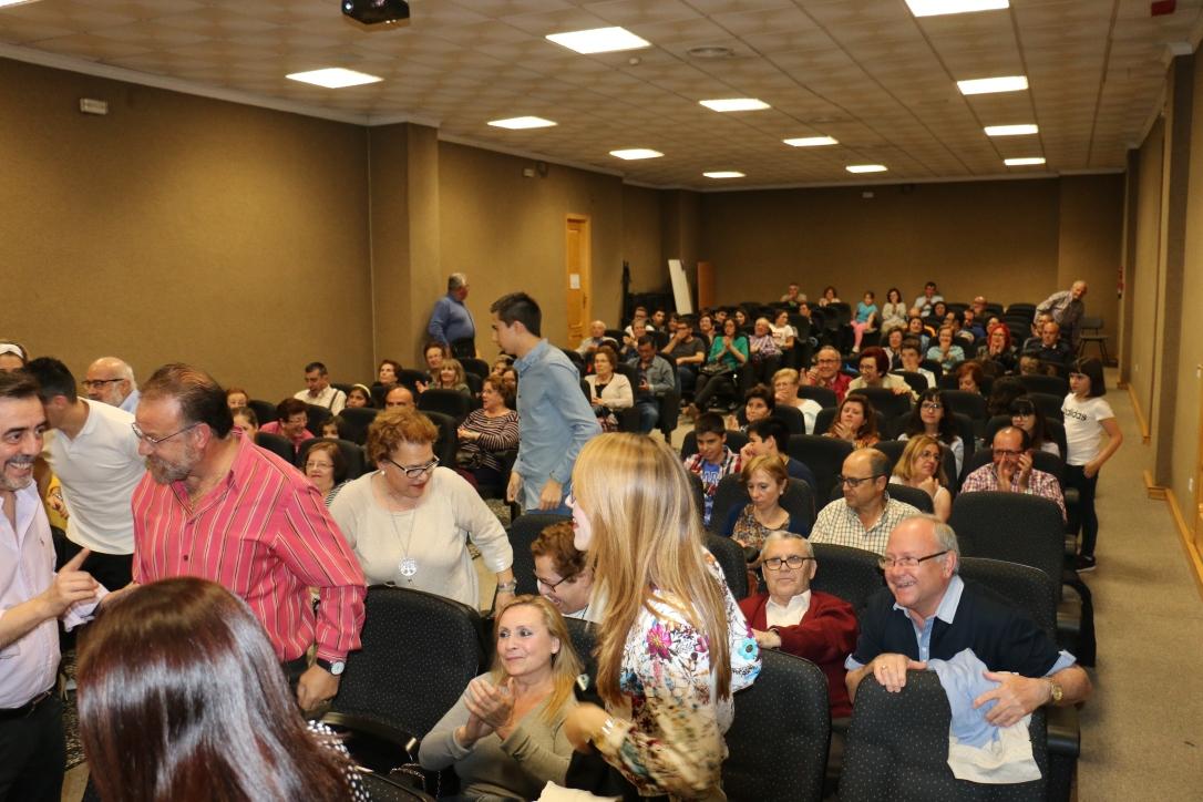 El salón de actos del edificio Alcalde Leoncio Rodríguez en Rute (Córdoba) durante la presentación del capítulo 4 de la webserie Peligrosa Mente